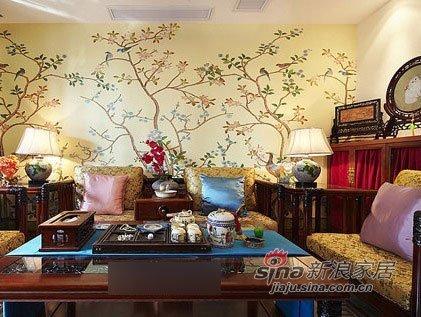 中式 二居 客厅图片来自用户1907696363在淑女打造68平新潮中式闺房12的分享