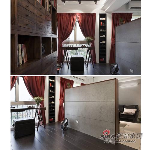 中式 三居 书房图片来自用户1907659705在复古风格惬意中式3居生活92的分享