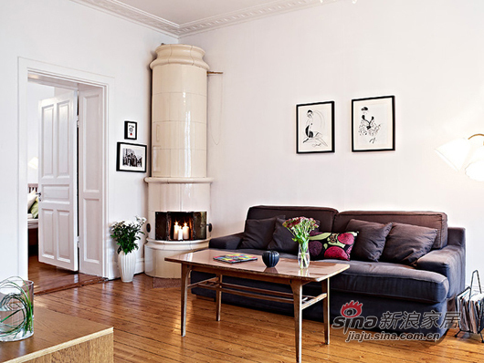 北欧 一居 客厅图片来自用户1903515612在80后小夫妻85平北欧风简约温馨家39的分享