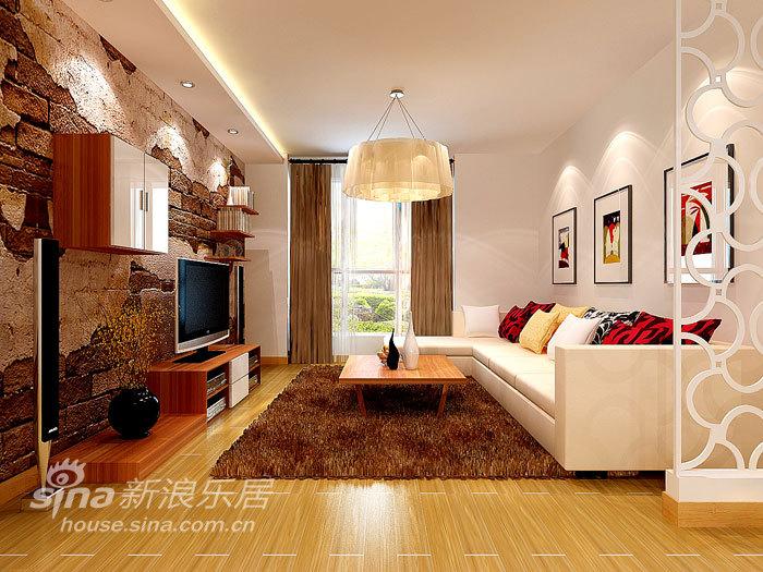简约 一居 客厅图片来自用户2559456651在金都杭城现代一居58的分享
