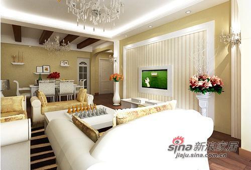 欧式 三居 客厅图片来自用户2772856065在10万打造125平完美欧式3居25的分享