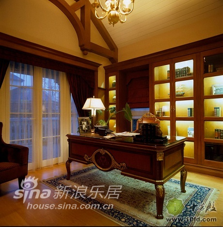 简约 一居 客厅图片来自用户2737782783在十芳殿多款书房装修设计 带你领略书房魅力18的分享