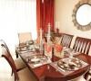 餐厅中红色与黄色是可以增进人食欲的色彩