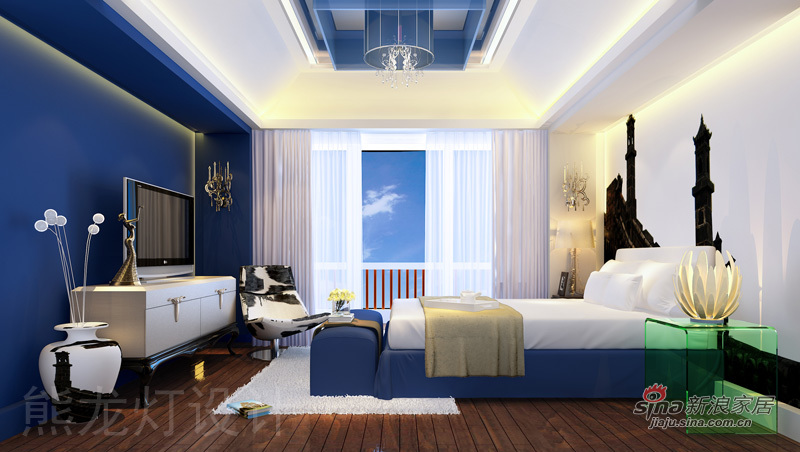 混搭 别墅 卧室图片来自用户1907691673在悠然居-熊龙灯别墅设计13的分享