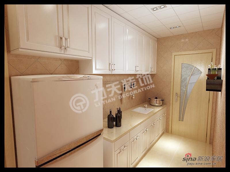 简约 二居 厨房图片来自阳光力天装饰在大港奉献南里-2室2厅1卫1厨100㎡-现代简约30的分享