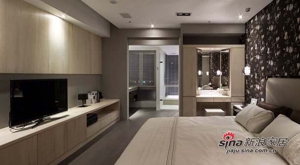 简约 三居 卧室图片来自用户2739153147在三口家7.8万打造110平现代黑白空间63的分享