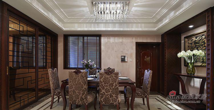 新古典 四居 餐厅图片来自装修微日记在【高清】161平古典韵味时尚4居室93的分享