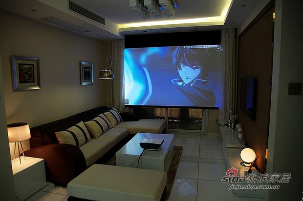 简约 二居 客厅图片来自用户2737759857在潮女6万打造95平简约家庭影院25的分享
