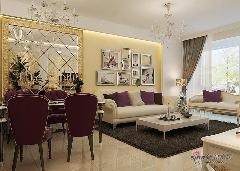 欧式 二居 客厅图片来自用户2746953981在80平温馨舒适现代欧式风情两居82的分享