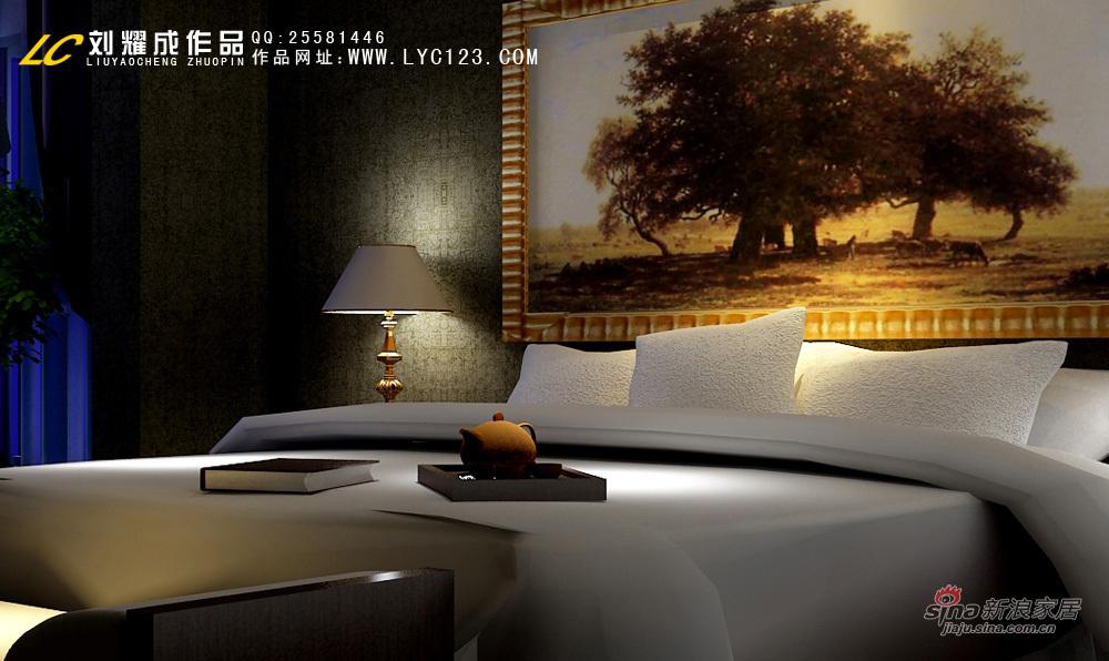美式 别墅 卧室图片来自用户1907685403在豪华庄重别墅案例66的分享