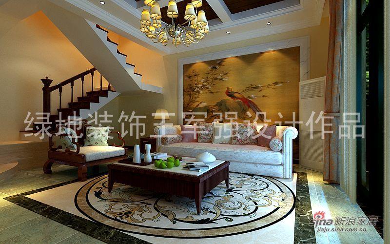 欧式 复式 客厅图片来自用户2746953981在龙泊圣地新古典风格装修设计效果图赏析15的分享