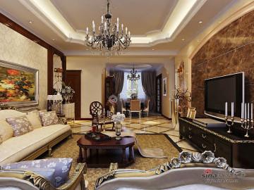 招商钻石山178㎡-四室二厅-欧式风格36