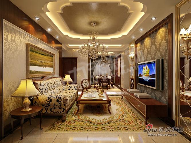 欧式 三居 客厅图片来自阳光力天装饰在中央学府113㎡31的分享