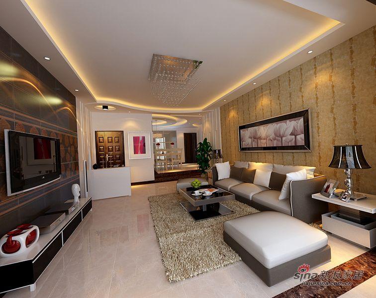简约 二居 客厅图片来自用户2739081033在黄、啡、白作主色现代简约爱家63的分享