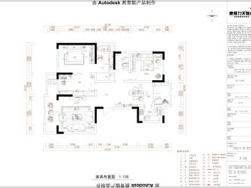 建业壹号城邦145平3居室简欧风格设计图93