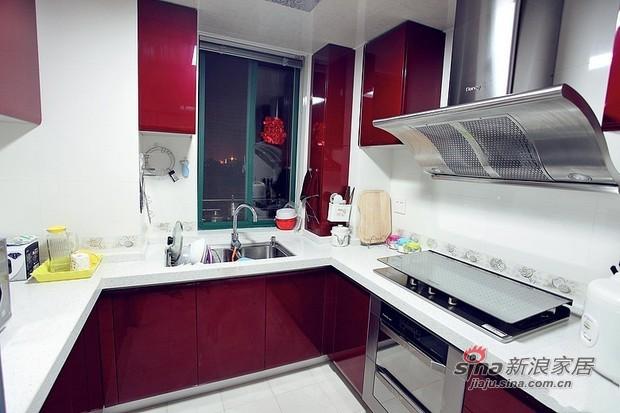 简约 三居 厨房图片来自用户2739153147在8万营造90平原木色3居婚房37的分享