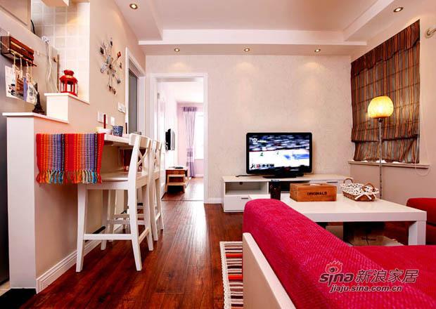 简约 一居 客厅图片来自用户2737786973在62平功能齐全的浪漫mini婚房85的分享