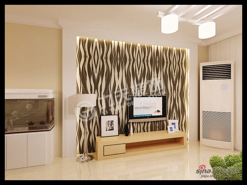 简约 二居 客厅图片来自阳光力天装饰在大港奉献南里-2室2厅1卫1厨100㎡-现代简约30的分享