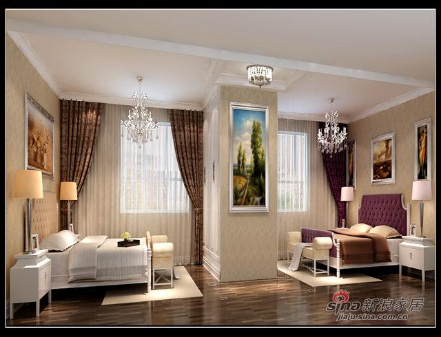 欧式 四居 卧室图片来自用户2746869241在世纪村77的分享