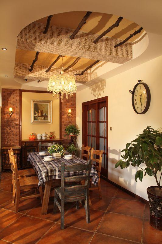 欧式 复式 餐厅图片来自用户2557013183在330平米美式乡村风格舞者之家-赛洛公馆41的分享