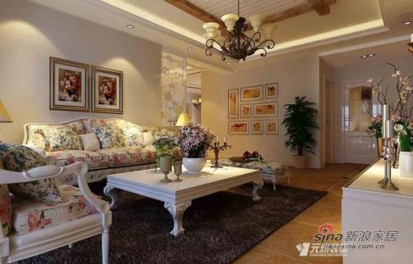 140平米K2清水湾田园风格四居客厅