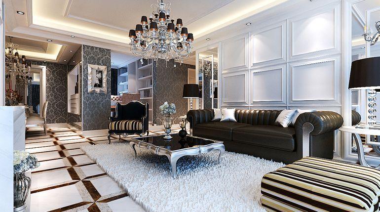 欧式 四居 客厅图片来自用户2746889121在160平欧式清新典范45的分享