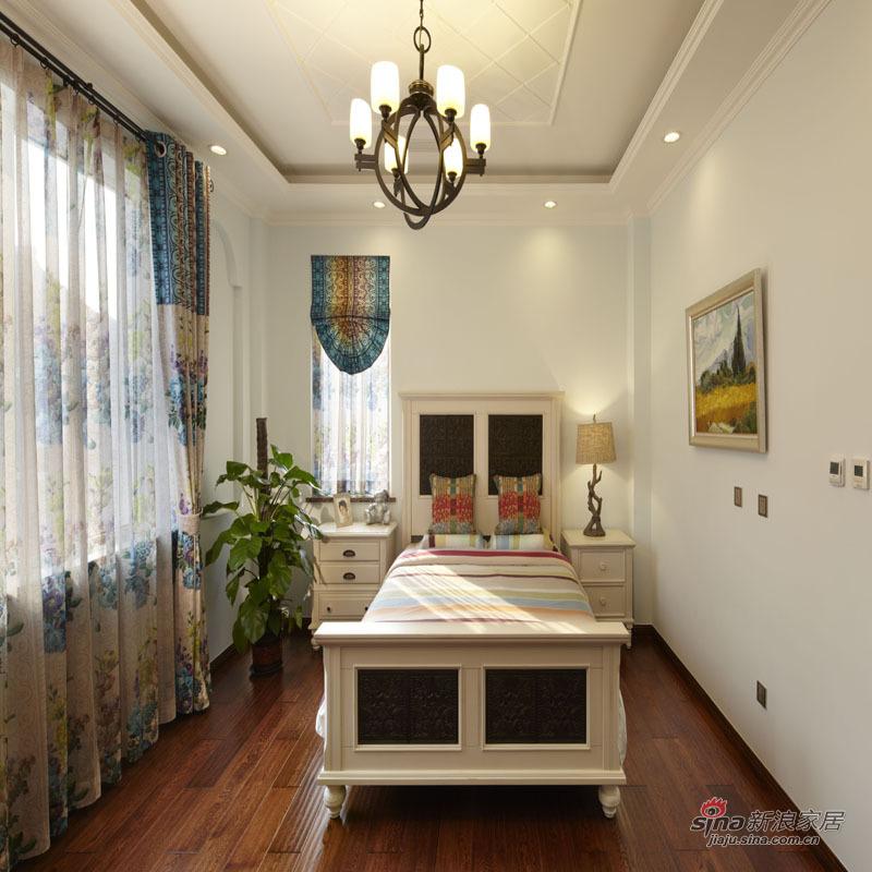 美式 别墅 卧室图片来自用户1907685403在《御香山》别墅美式乡村风格83的分享