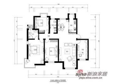 162㎡四居室简单时尚8.9万装52