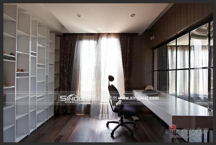 欧式 别墅 书房图片来自用户2746889121在卸下传统欧式 耳目一新混搭风76的分享