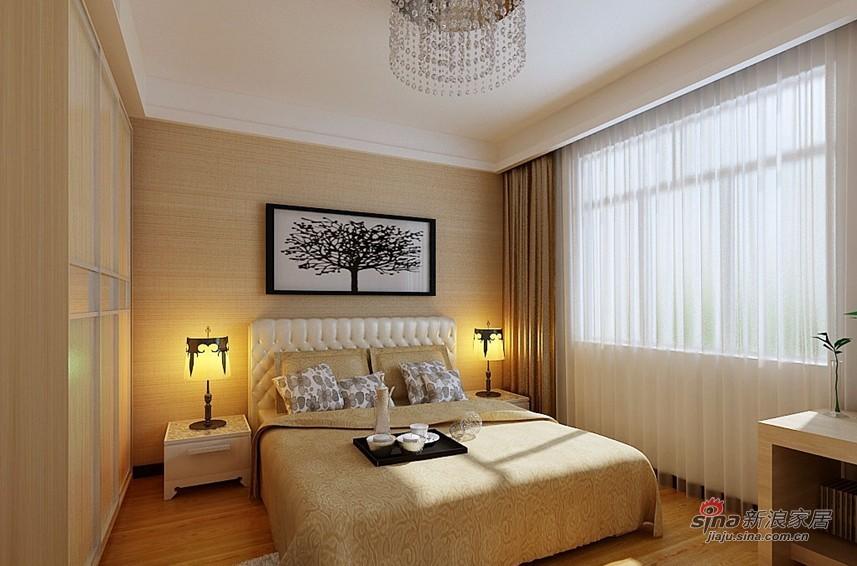 简约 三居 卧室图片来自用户2558728947在11万打造恒盛豪庭176平米现代简约三居56的分享
