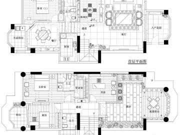 【高清】19万装修雅致中式风格复式样板间91