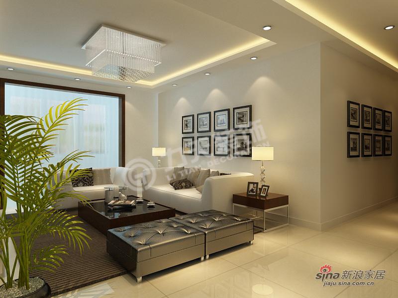 简约 三居 客厅图片来自阳光力天装饰在3室2厅现代简约设计33的分享