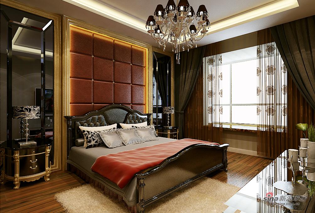 欧式 三居 卧室图片来自用户2746869241在皇城东苑华丽欧装69的分享