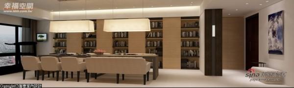 颠覆传统想法舍去客厅设计,概念阅览室