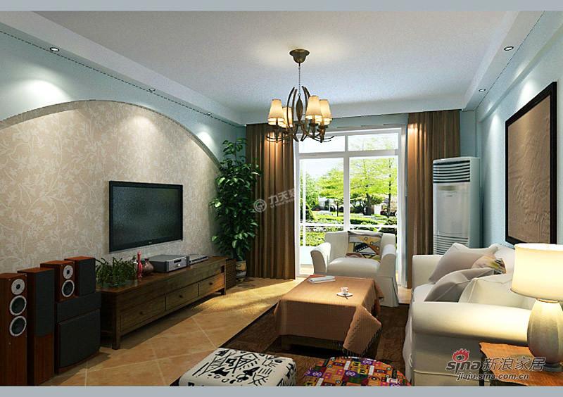 简约 二居 客厅图片来自用户2738093703在亲亲家园97.00㎡-2室2厅-现代简约46的分享