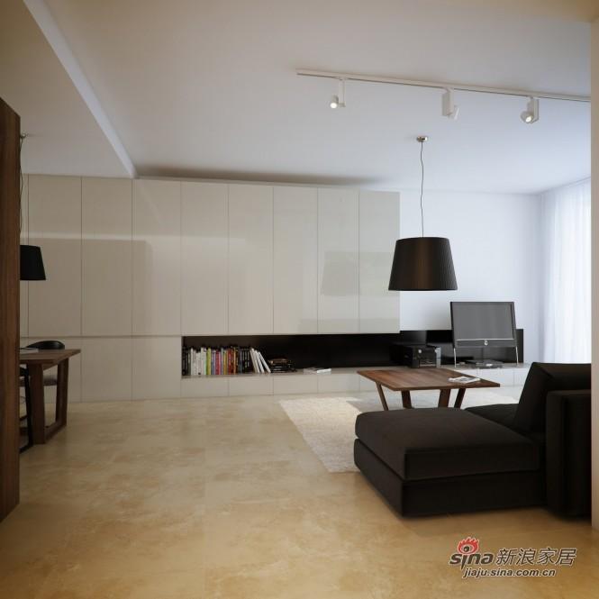 简约 三居 客厅图片来自用户2739081033在108平现代黑白时尚公寓28的分享