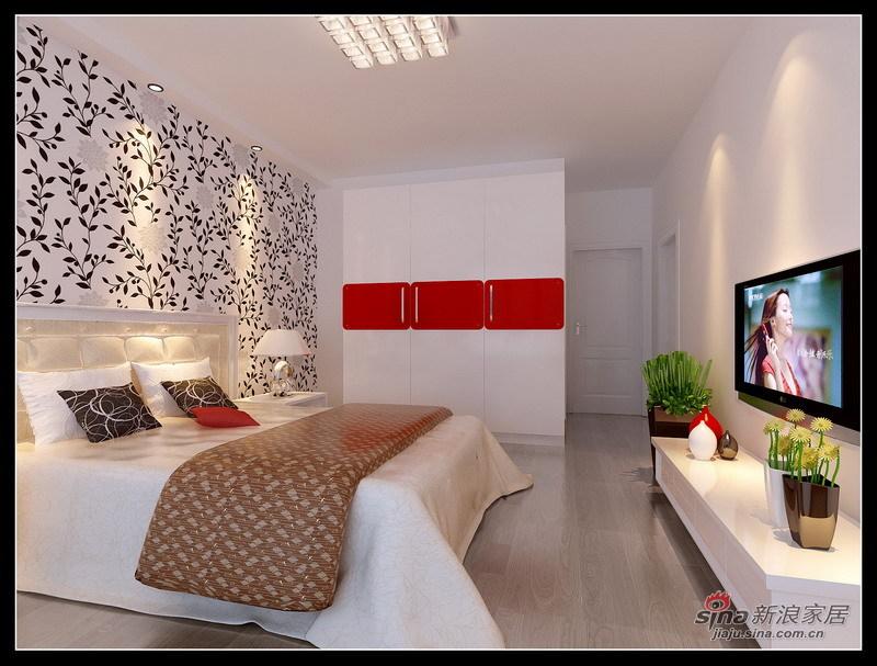 简约 三居 卧室图片来自用户2558728947在现代简约温馨三居18的分享