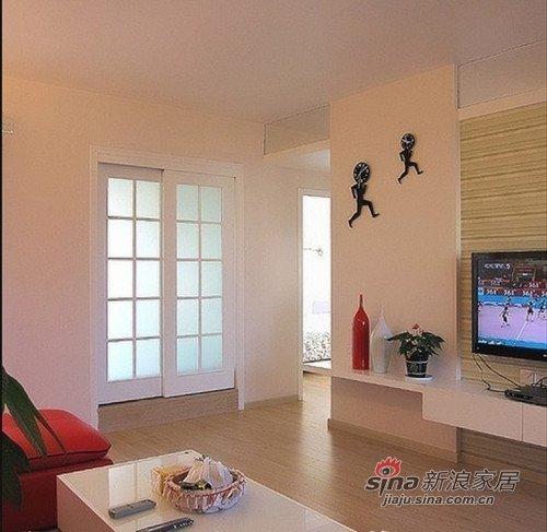 美式 二居 客厅图片来自用户1907686233在小夫妻60平美式简约两居室11的分享