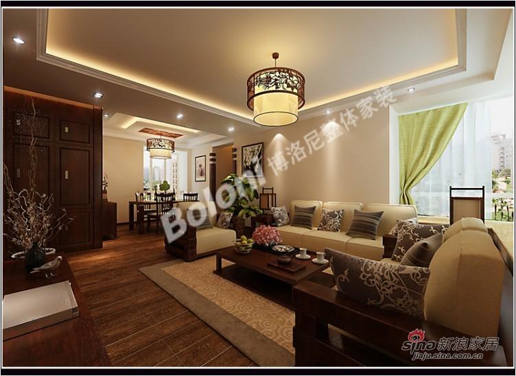 中式 三居 客厅图片来自用户1907659705在5万打造御景城新中式风格家装37的分享