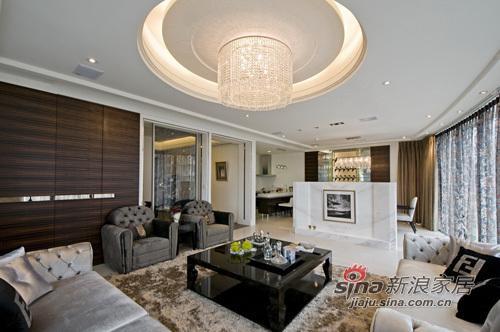 港式 别墅 客厅图片来自幸福空间在大宅气度看无可取代的生活态度68的分享
