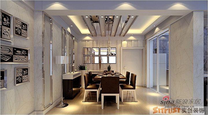 简约 三居 餐厅图片来自用户2739378857在131平三居室装修设计案例75的分享