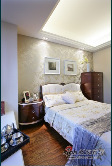 欧式 二居 卧室图片来自佰辰生活装饰在14万完美造就简欧主题3房96的分享