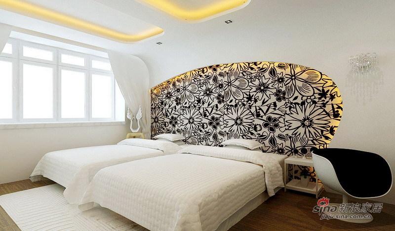 简约 四居 卧室图片来自用户2738845145在看140㎡格林创意空间 巧夺天工12的分享
