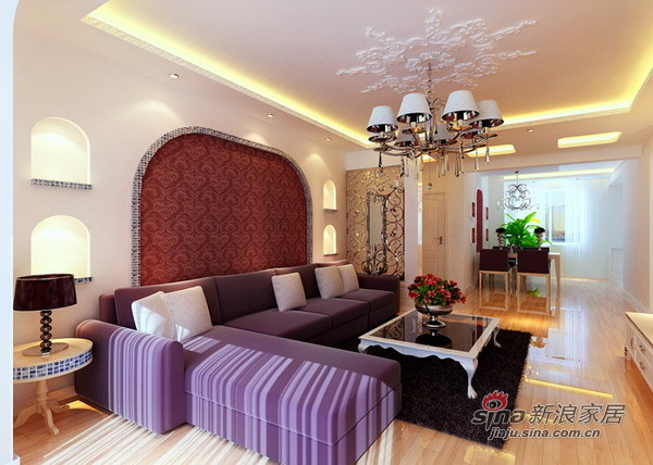 欧式 三居 客厅图片来自用户2757317061在万科风情万种爱家72的分享