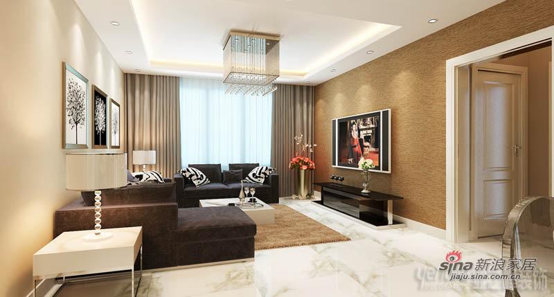 简约 二居 客厅图片来自用户2738845145在港式情调106平米两居室-松江运河城76的分享