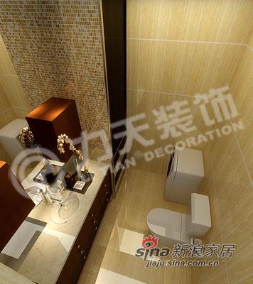 中式 三居 卫生间图片来自阳光力天装饰在135平米中式古典三居22的分享