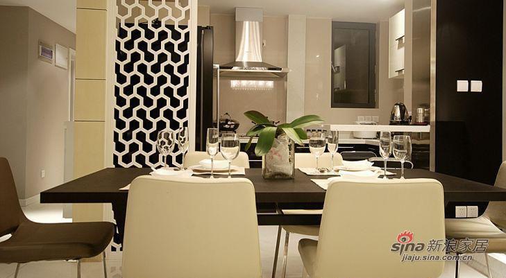简约 二居 餐厅图片来自佰辰生活装饰在走进86平时尚明快三口之家98的分享