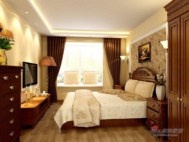 欧式 三居 卧室图片来自用户2757317061在原创8万精装140平简约欧式3室2厅49的分享