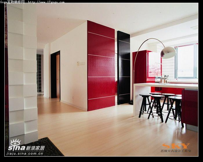 其他 复式 餐厅图片来自用户2557963305在时尚风向标—红黑白演绎31的分享