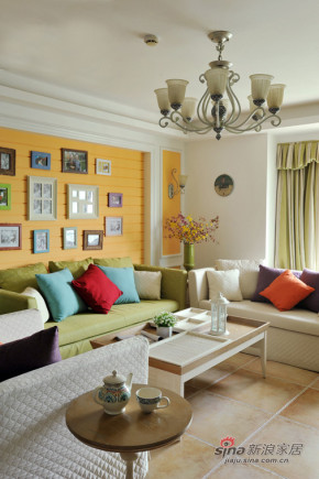 田园 三居 客厅 白富美图片来自用户2737791853在爱的栖息地时尚色彩美家76的分享